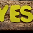 Word yes — Foto Stock