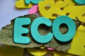Word eco — Foto de Stock