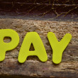 Word pay — Stock Photo #37839139