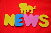 Word news — Stock Photo