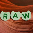 Word raw — Stock Photo