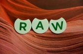 Word raw — Stock Photo