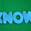 Know — Stock Photo #39420675