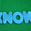 Stock Photo: Know