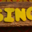 Stock Photo: Word sing