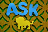 Word ask — Stock Photo