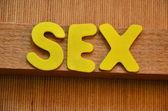 Word sex — Stock fotografie
