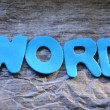 Stock Photo: Word word
