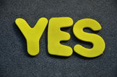 Word yes — Stock Photo