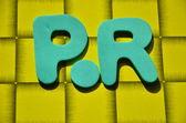 WORD PR — Stock Photo