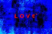Dia de são valentim 3d azul e vermelho — Fotografia Stock