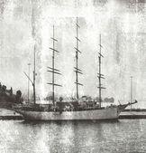 Veleiro em porto — Fotografia Stock