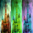 St. Basil Cathedral,triptych — Stock Photo