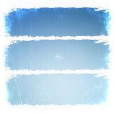 Grunge blue frames — Stock Photo