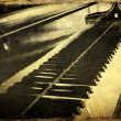 Stock Photo: Grunge piano musical background and added paper texture