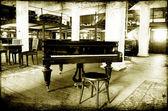 Jazz piano bar — Stock Photo
