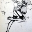 Sexy Girl Fashion Illustration  — ストック写真