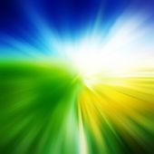 绿色的原野和蓝蓝的天空白云 — 图库照片