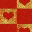 Foto Stock: Valentine's day background with hearts