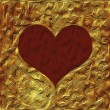 Elegant golden valentine background — Photo #38528471