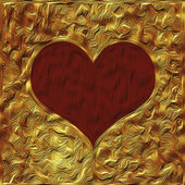 Elegant golden valentine background — Stockfoto