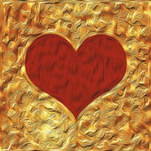 Elegant golden valentine background — Stock Photo