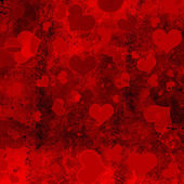 Valentine's day background with hearts — Foto Stock
