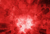 Valentine's day background with hearts — Stok fotoğraf
