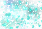 Blue valentine's day background with hearts — Stockfoto