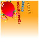 庆祝活动背景与元素 — 图库矢量图片