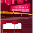 Royalty-Free Stock Vector Image: View of bar counter