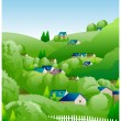 Stock Vector: Country side illustration