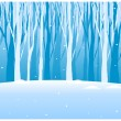 Close-up of tree woods in winter — Stock Vector