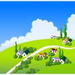 Country side illustration — Stock Vector