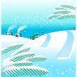 Stock Vector: Winter landscape