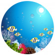 Stock Vector: Deep in sea