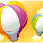 Hot Air Balloon in Sky — Stock Vector