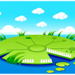 Pond background — Stock Vector