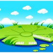 Stock Vector: Pond background