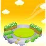 Formal garden in sky — Stock Vector