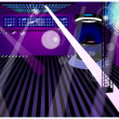 Stock Vector: Night club interior