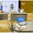 Stock Vector: Office interior