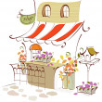 Flower shop exterior — Stock Vector #13416186
