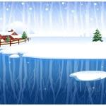 Winter rural scene — Stock Vector #13416500
