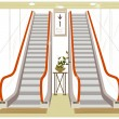 Stock Vector: Escalator