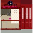 Cafe exterior - Stock Vector
