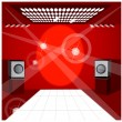Royalty-Free Stock Vector Image: Speaker and lights