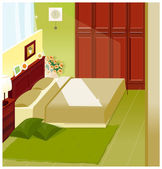 Bedroom Interior — Stock Vector