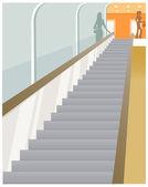 Escalator vision — Stock Vector