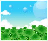 Green field — Stock Vector